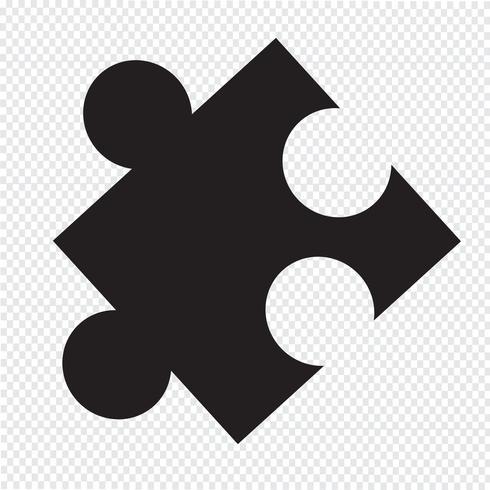 puzzle icona simbolo segno vettore