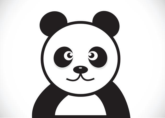 Personaggio dei cartoni animati di Panda vettore