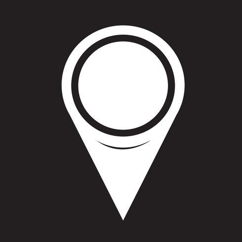 Icona del puntatore della mappa vettore