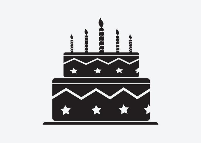 Icona della torta di compleanno vettore