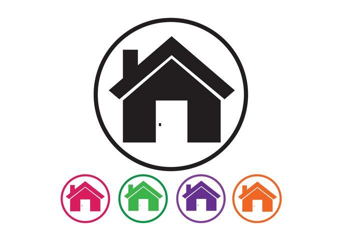 Icona domestica e concetto del bene immobile vettore