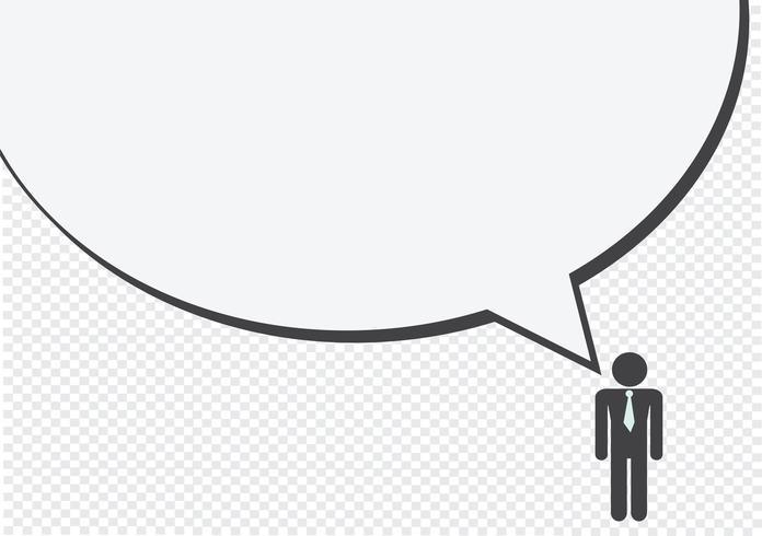 Pittogramma di conversazione di pensiero del segno di simbolo dell'icona di conversazione della gente dell'uomo vettore