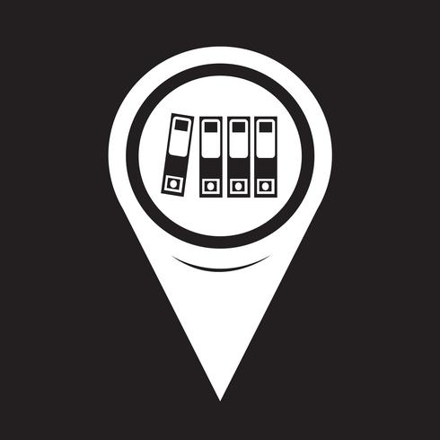 Icona della cartella del puntatore della mappa vettore