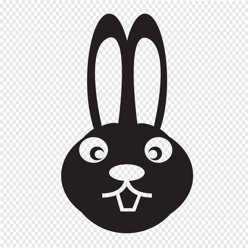 icona di coniglio vettore