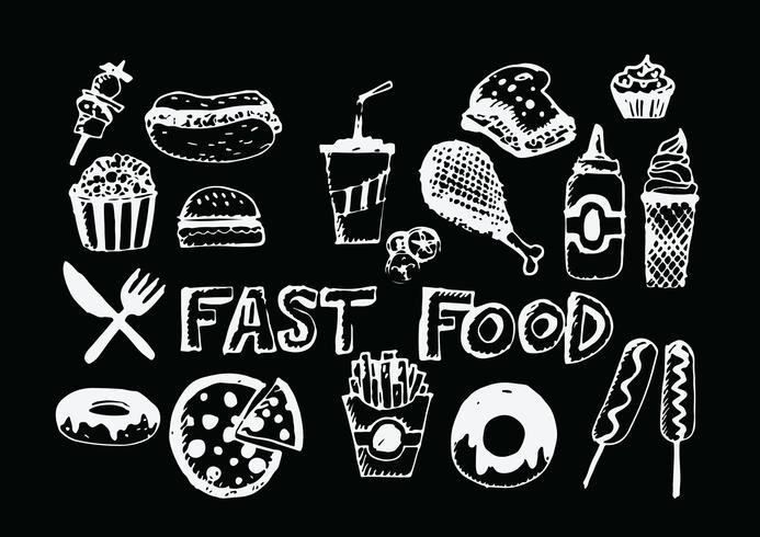 icone vettoriali di fast food simboli
