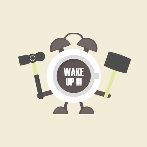 sveglia per caffè vettore