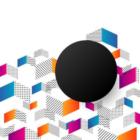 sfondo geometrico minimale vettore