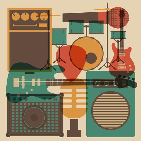 strumento rock astratto vettore
