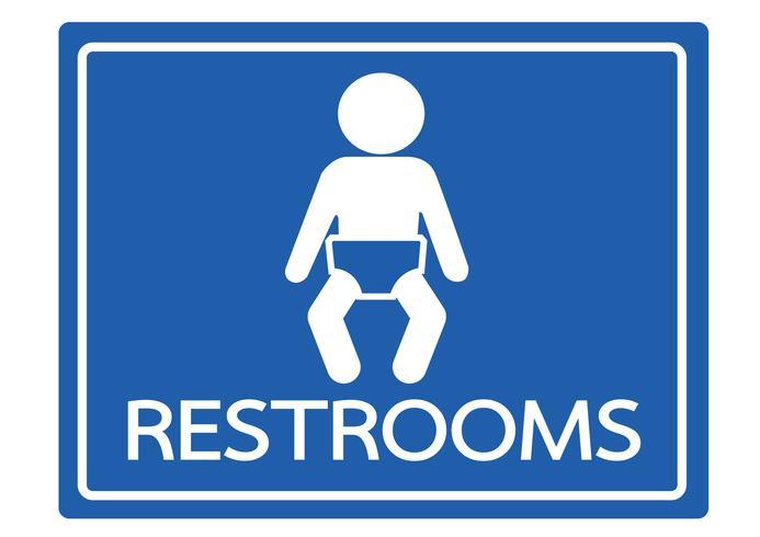 Icone di bagno pittogramma bambino vettore