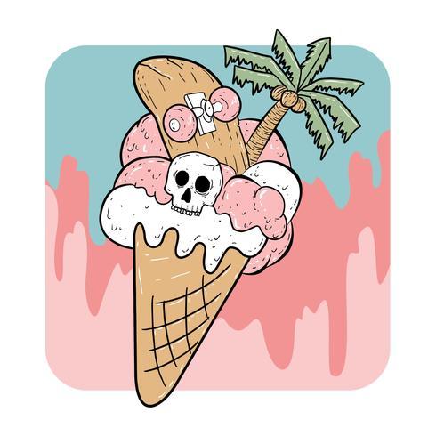 gelato estivo di halloween vettore