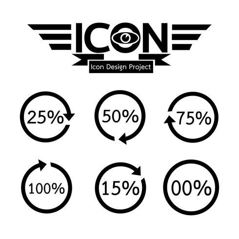 caricamento icona simbolo segno vettore