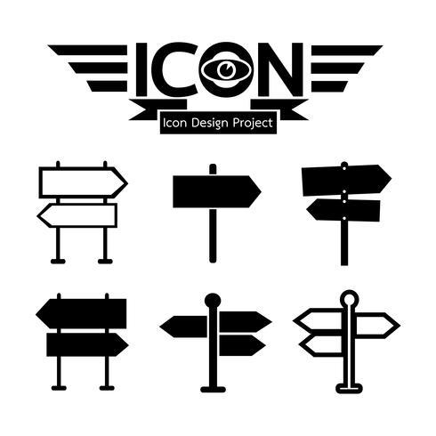 signpost icon symbol sign vettore