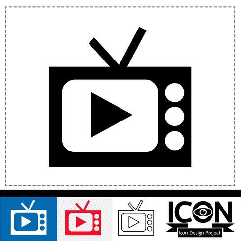 segno di simbolo dell'icona della TV vettore