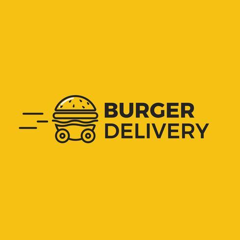 Auto Burger consegna veloce Burger vettore