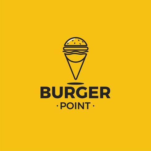 Logotipo per ristorante o bar o pizzeria. Illustrazione vettoriale