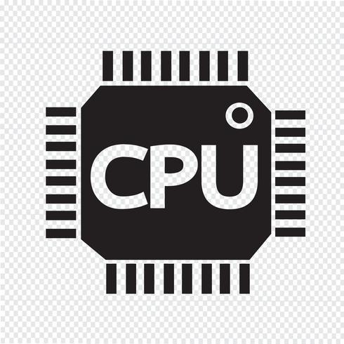 Segno simbolo icona CPU vettore