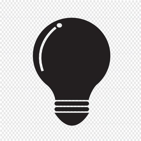 segno simbolo icona lampadina vettore