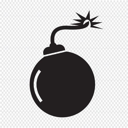 Bomba icona simbolo segno vettore