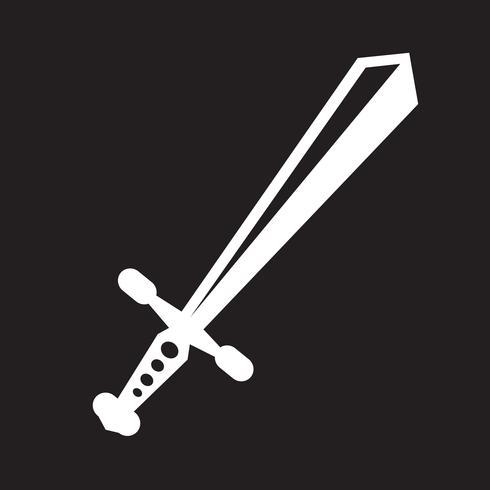 spada icona simbolo segno vettore