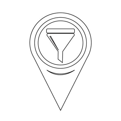 Icona riempimento olio puntatore mappa vettore
