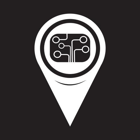 Icona del circuito del puntatore della mappa vettore