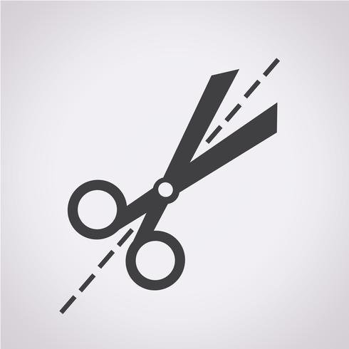 Forbici icona simbolo segno vettore
