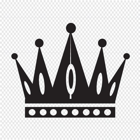 Corona icona simbolo segno vettore