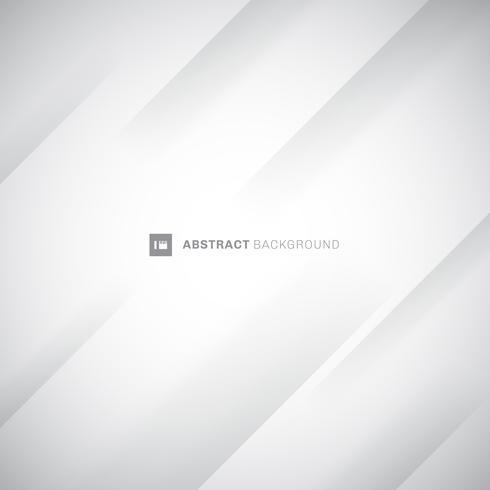 Fondo bianco e grigio moderno astratto delle bande diagonali. Piega piega carta. È possibile utilizzare per la copertina, poster, pubblicità. vettore
