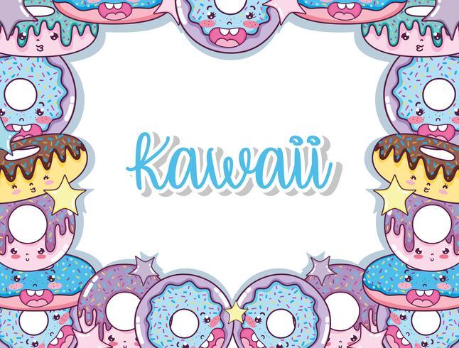 Simpatici cartoni animati kawaii vettore