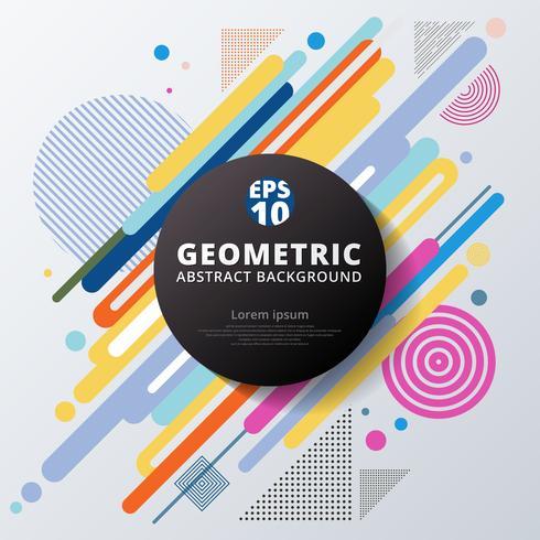 Progettazione e fondo geometrici del modello del cerchio variopinto astratto di colore. vettore