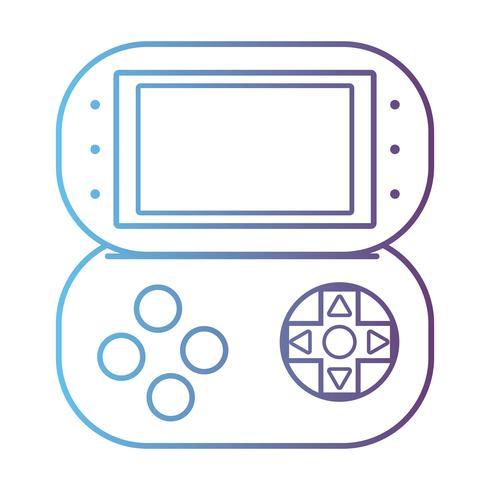 line videogioco console tecnologia elettronica vettore