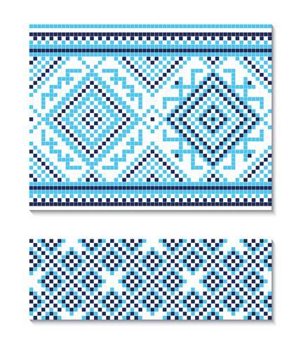 Illustrazione vettoriale di ornamento ucraino senza soluzione di continuità. Per carta da parati, tessuti, carte