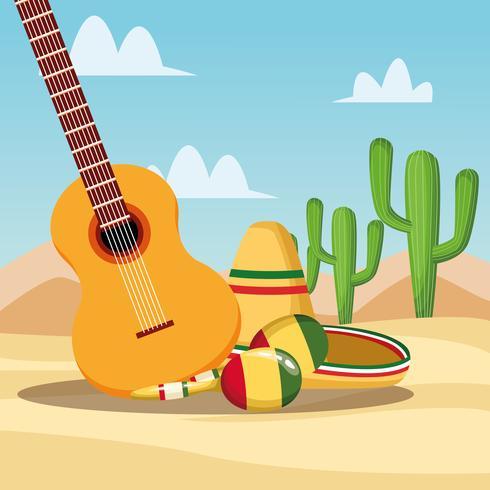 Cartoni animati messicani vettore