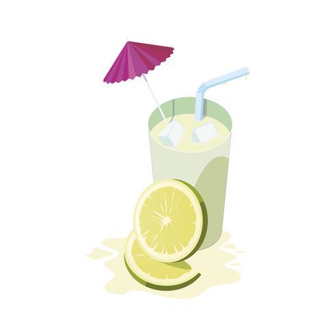 cocktail di frutta con succo di limone fresco vettore