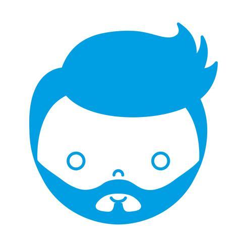 icona del volto di ragazzo dei cartoni animati vettore