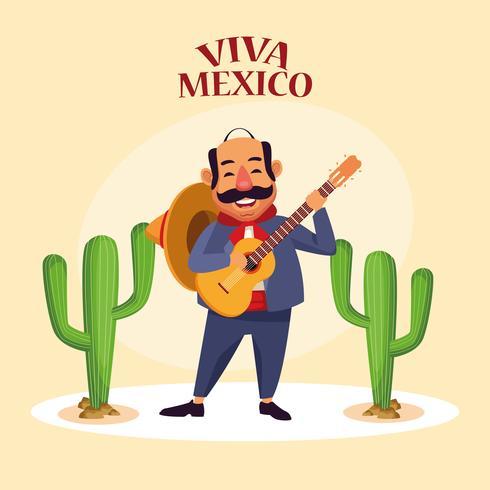 Cartoni animati Viva Mexico vettore