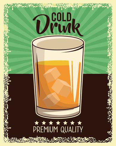 poster di drink vintage vettore