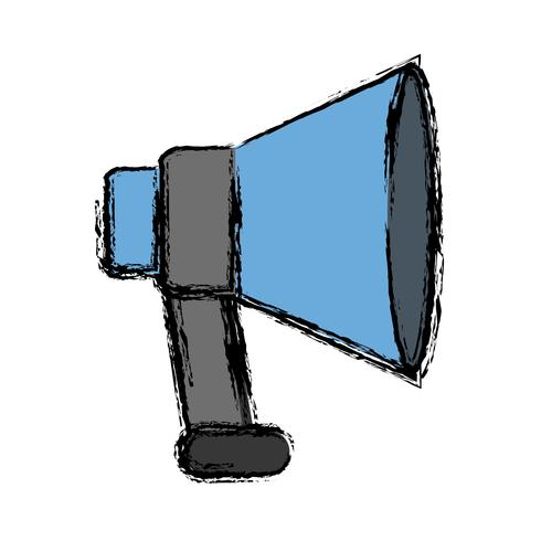 icona del dispositivo megafono vettore