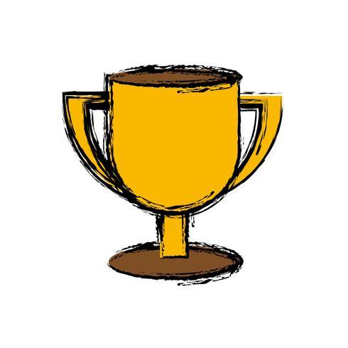 icona della tazza del trofeo vettore