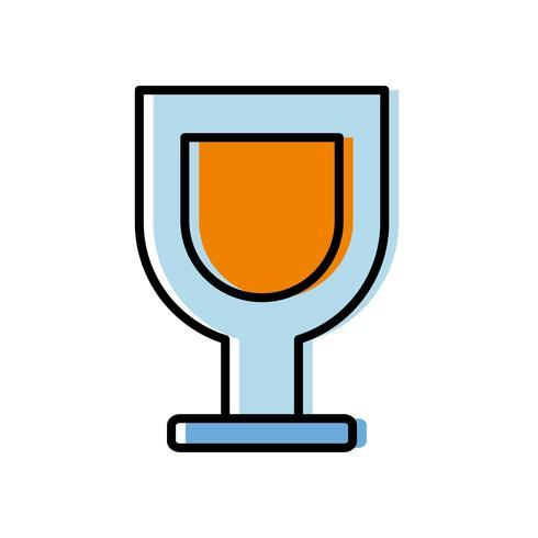 icona di bicchiere di vino vettore
