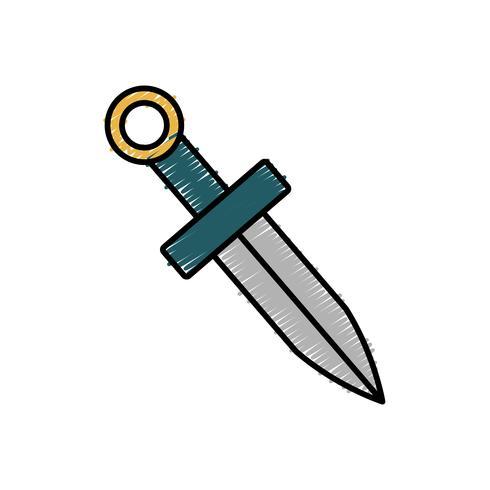 immagine dell'icona di spada vettore