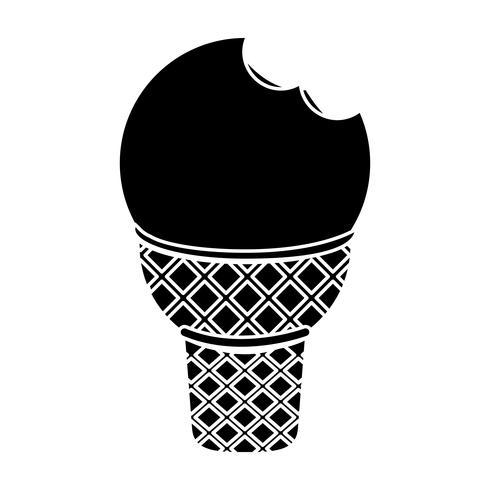 icona di gelato vettore