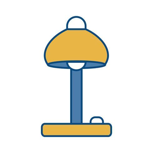 icona lampada da scrivania vettore