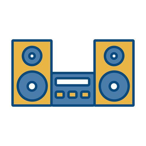 icona del sistema stereo vettore