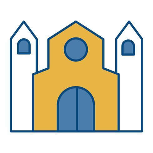 icona di costruzione della chiesa vettore