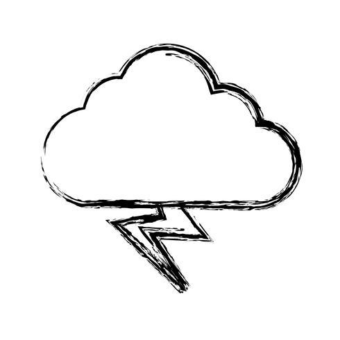 icona nuvola e tuoni vettore