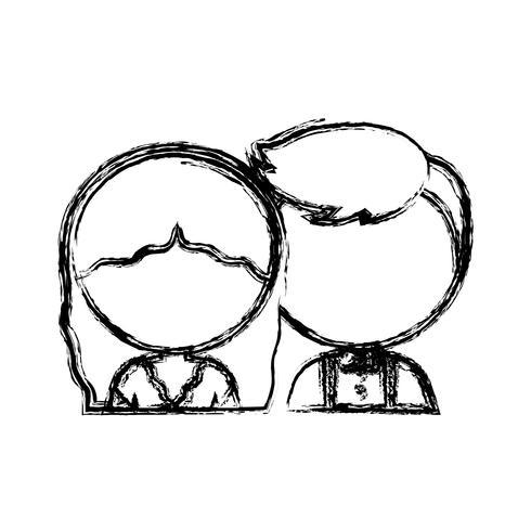 icona di sposi vettore