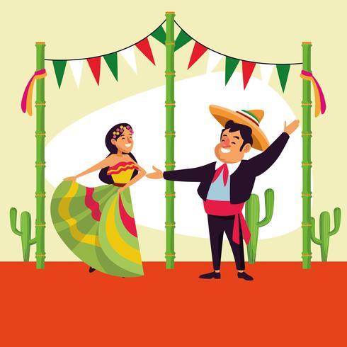 Cartone animato messicano cinco de mayo vettore