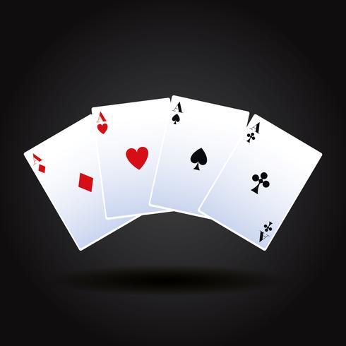 Gioco di carte da poker vettore