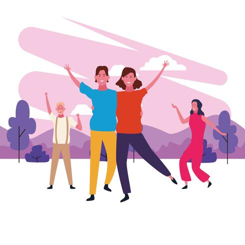 avatar di coppia danzante vettore